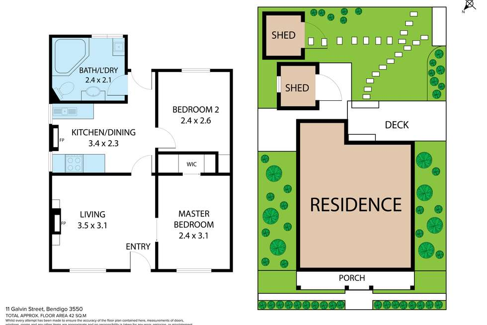 Floorplan of Homely house listing, 11 Galvin Street, Bendigo VIC 3550