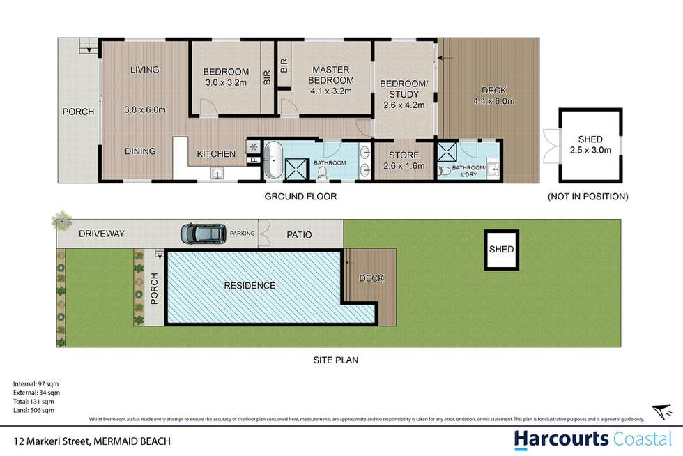 Floorplan of Homely house listing, 12 Markeri Street, Mermaid Beach QLD 4218