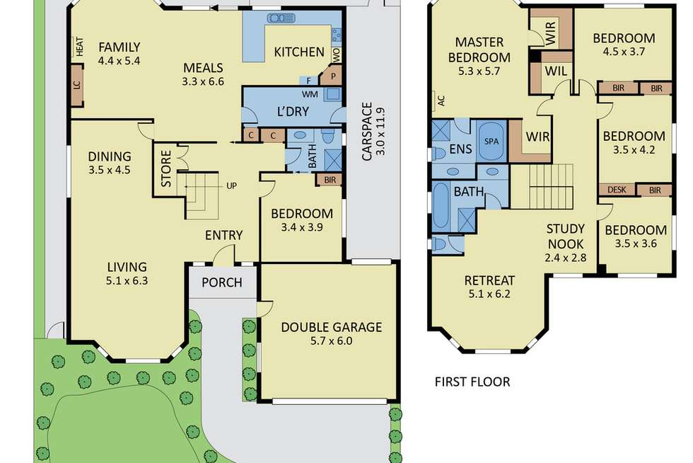 Floorplan of Homely house listing, 5 Adrian Avenue, Vermont South VIC 3133