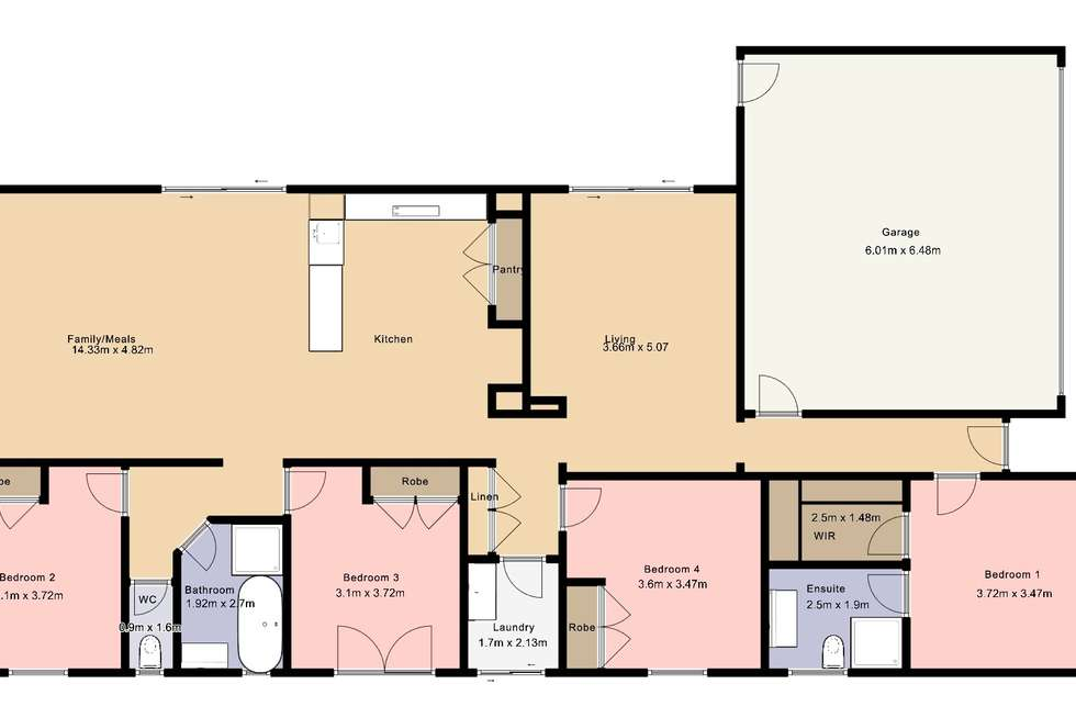 Floorplan of Homely house listing, 35 Victoria Cross Parade, Wodonga VIC 3690