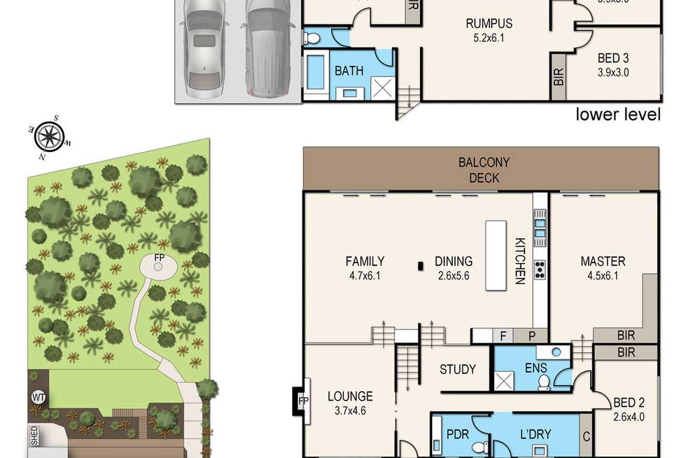 Floorplan of Homely house listing, 12 Woolston Drive, Frankston South VIC 3199