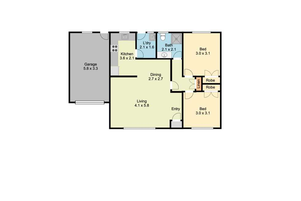 Floorplan of Homely unit listing, Unit 1 & 2/1 Burns Court, Wodonga VIC 3690