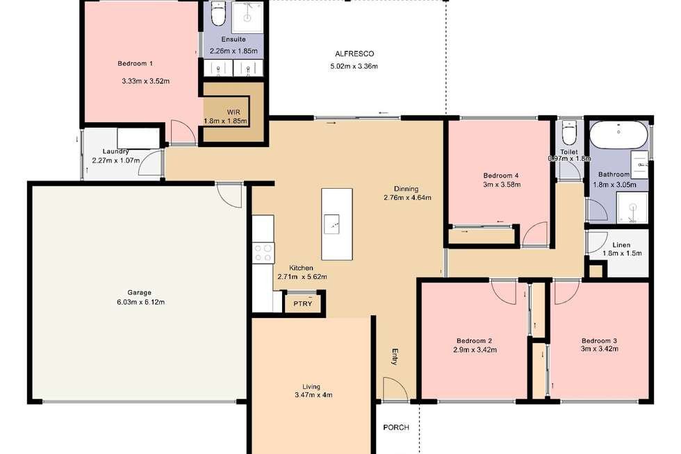 Floorplan of Homely house listing, 3 Willowdale Street, Wodonga VIC 3690