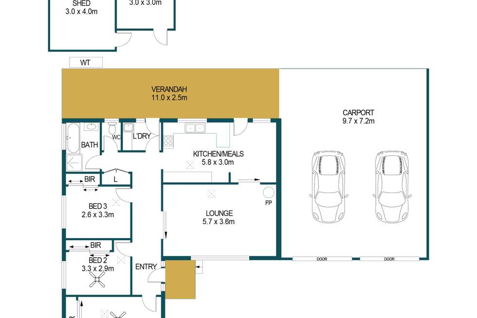 Floorplan of Homely house listing, 25 Inglebrae Crescent, Salisbury Park SA 5109
