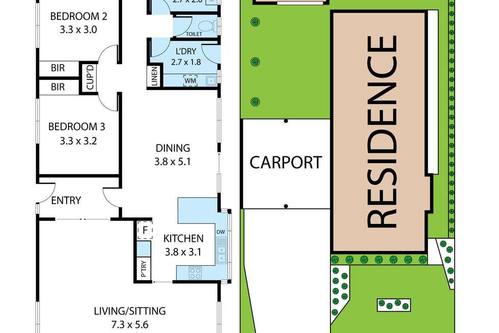 Floorplan of Homely house listing, 15 Centenary Drive, Trafalgar VIC 3824