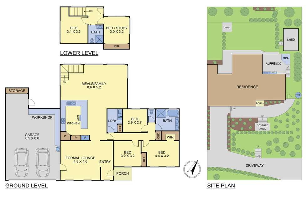 Floorplan of Homely house listing, 19 Bates Avenue, Upper Ferntree Gully VIC 3156