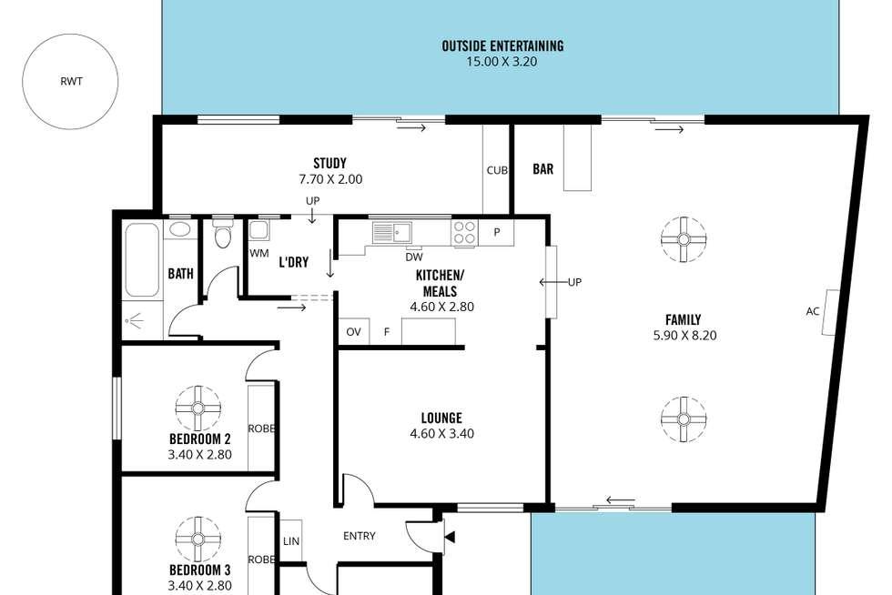 Floorplan of Homely house listing, 1 Emerald Road, Morphett Vale SA 5162