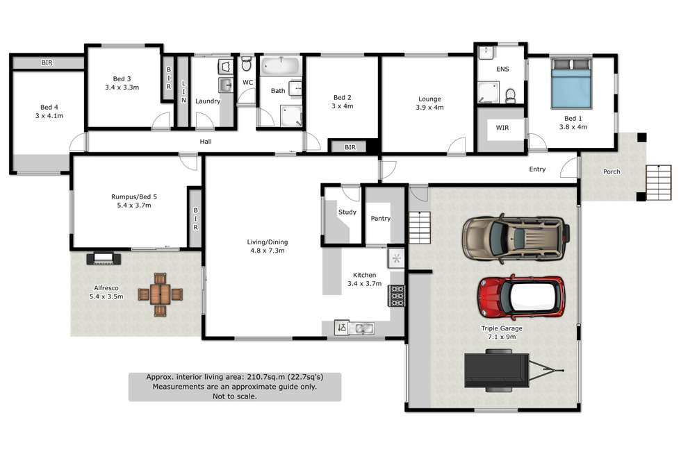 Floorplan of Homely house listing, 6 Gaff Court, Wodonga VIC 3690
