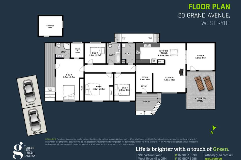 Floorplan of Homely house listing, 20 Grand Avenue, West Ryde NSW 2114