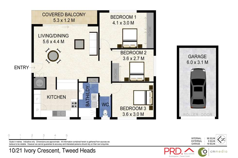 Floorplan of Homely unit listing, 10/21 Ivory Crescent, Tweed Heads NSW 2485
