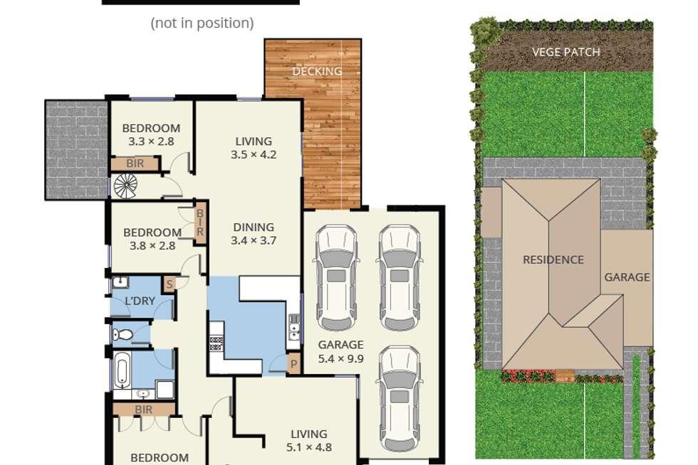 Floorplan of Homely house listing, 10 Delacombe Drive, Hampton Park VIC 3976