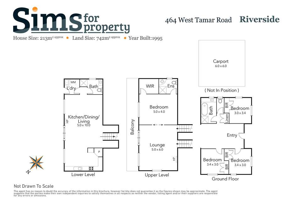 Floorplan of Homely house listing, 464 West Tamar Road, Riverside TAS 7250