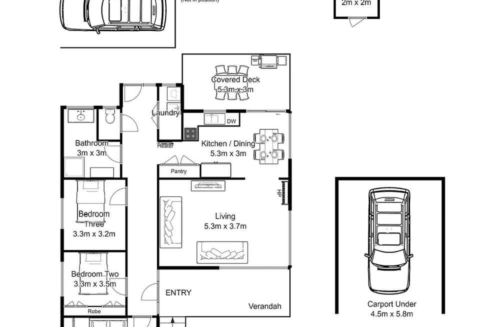 Floorplan of Homely house listing, 57 Orana Place, Riverside TAS 7250