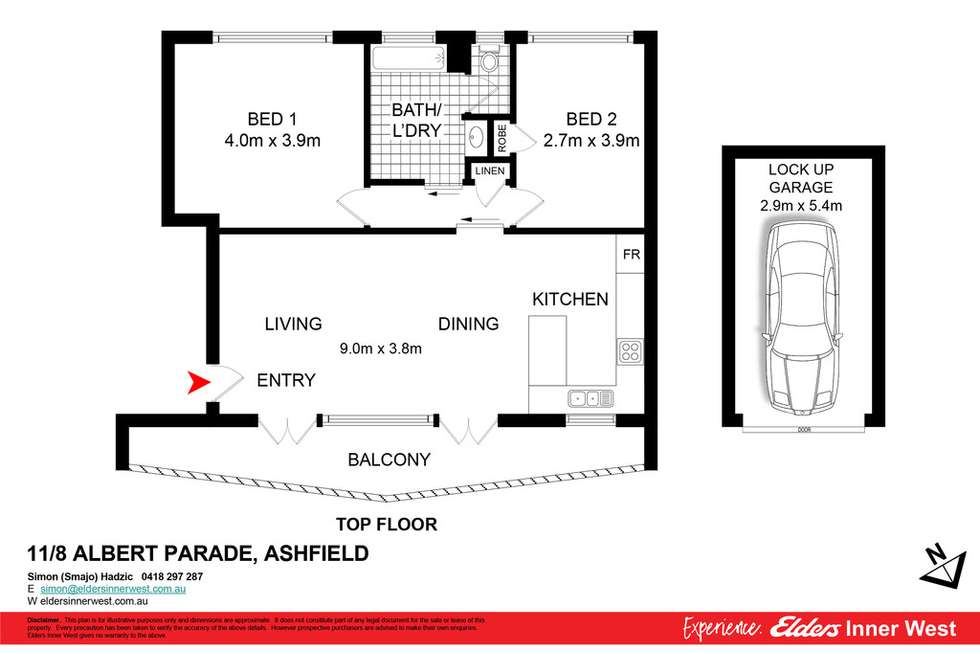 Floorplan of Homely unit listing, 11/8 Albert Parade, Ashfield NSW 2131