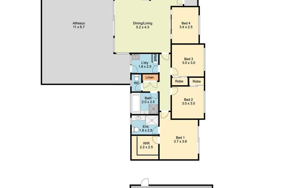 Floorplan of Homely house listing, 23 Kyle Court, Wodonga VIC 3690