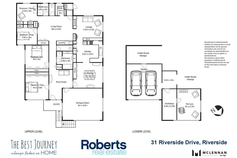 Floorplan of Homely house listing, 31 Riverside Drive, Riverside TAS 7250