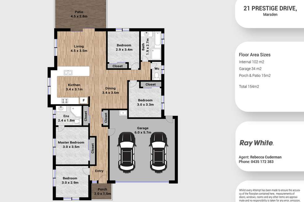 Floorplan of Homely house listing, 21 Prestige Drive, Marsden QLD 4132