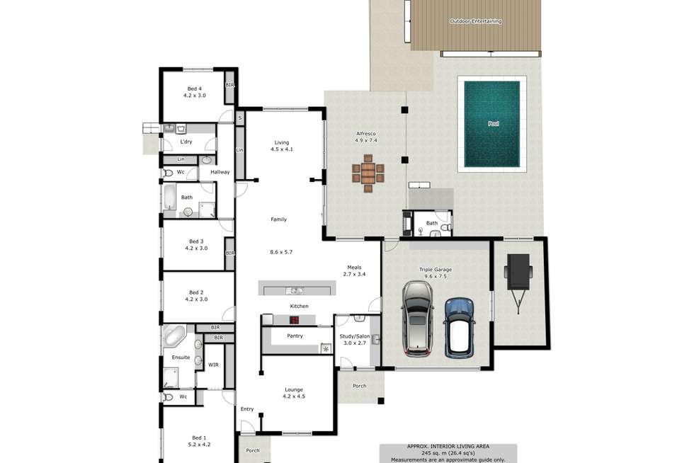 Floorplan of Homely house listing, 22 Stableford Place, Wodonga VIC 3690