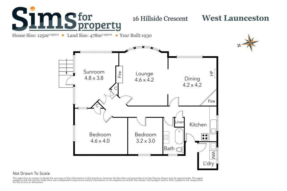 Floorplan of Homely house listing, 16 Hillside Crescent, West Launceston TAS 7250