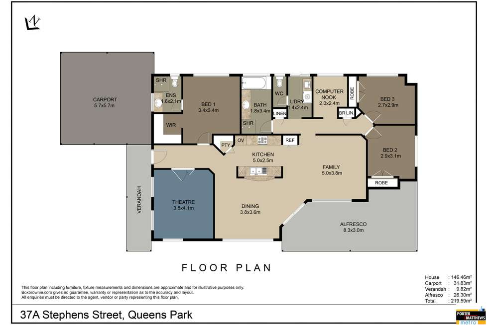 Floorplan of Homely house listing, 37A Stephen Street, Queens Park WA 6107