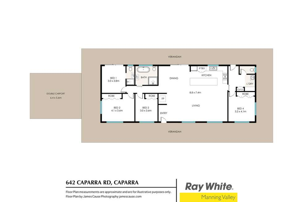 Floorplan of Homely lifestyle listing, 642 Caparra Road, Caparra NSW 2429