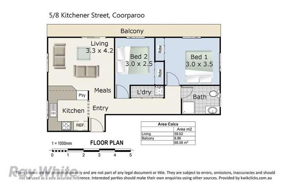 Floorplan of Homely unit listing, 5/8 Kitchener Street, Coorparoo QLD 4151