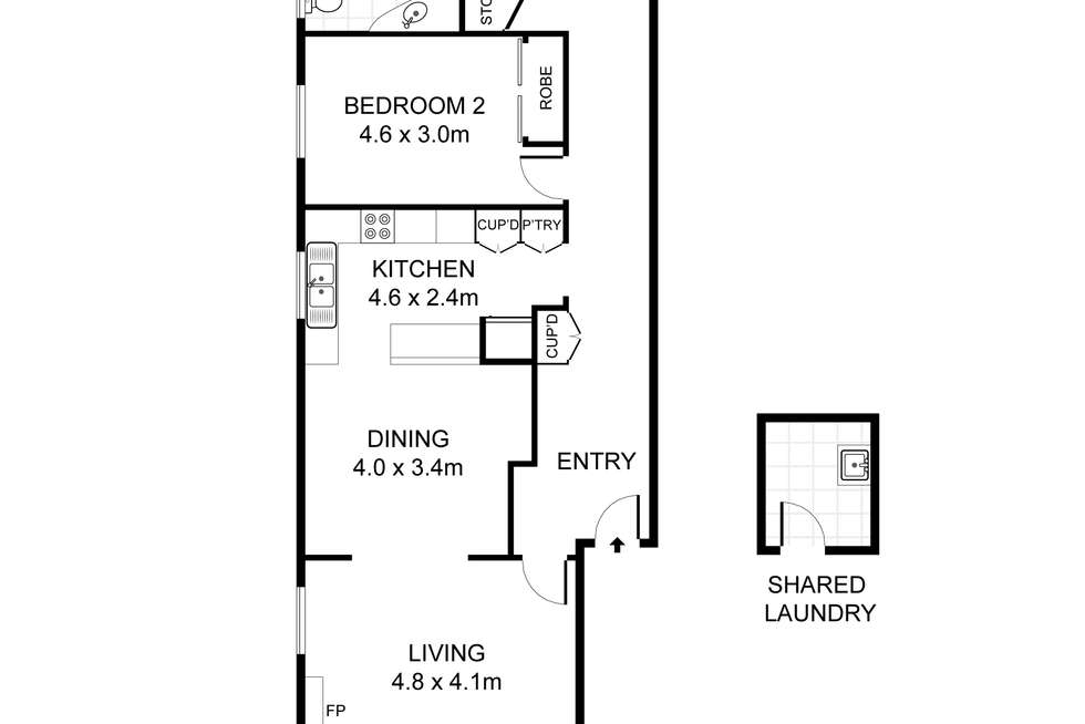 Floorplan of Homely apartment listing, 1/121 New South Head Road, Vaucluse NSW 2030
