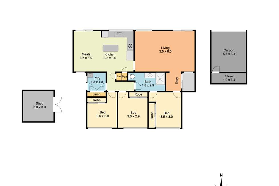 Floorplan of Homely house listing, 22 Wiltshire Crescent, Wodonga VIC 3690