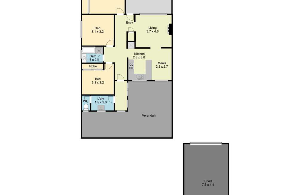 Floorplan of Homely house listing, 11 Hereford Street, Wodonga VIC 3690