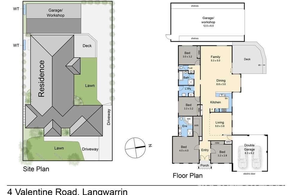 Floorplan of Homely house listing, 4 Valentine Road, Langwarrin VIC 3910