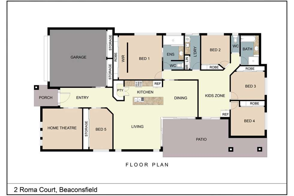 Floorplan of Homely house listing, 2 Roma Court, Beaconsfield QLD 4740