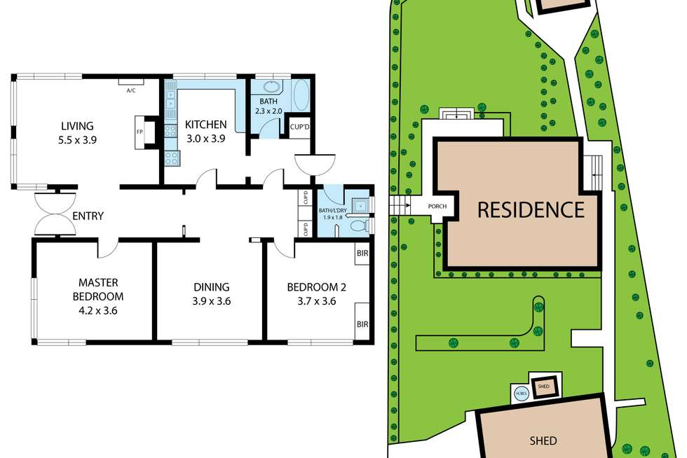 Floorplan of Homely house listing, 2 Murray Road, Newborough VIC 3825