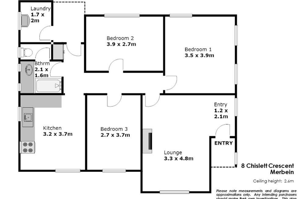 Floorplan of Homely house listing, 8 Chislett Crescent, Merbein VIC 3505
