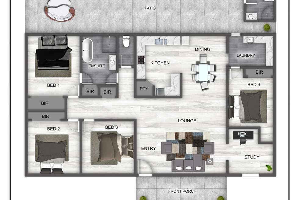 Floorplan of Homely house listing, 91 Broomdykes Drive, Beaconsfield QLD 4740