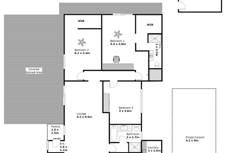 Floorplan of Homely house listing, 6 Murray Way, Buronga NSW 2739