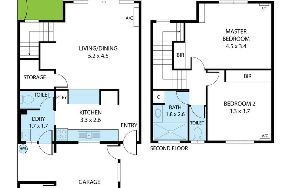Floorplan of Homely unit listing, 5/21-23 Tuffley Street, West End QLD 4810