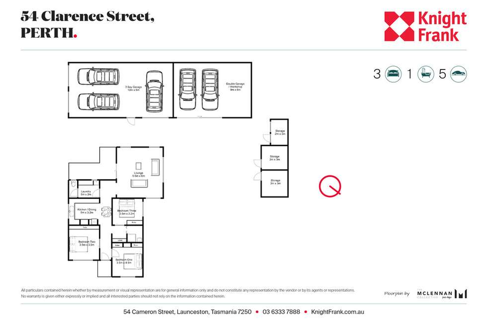 Floorplan of Homely house listing, 54 Clarence Street, Perth TAS 7300