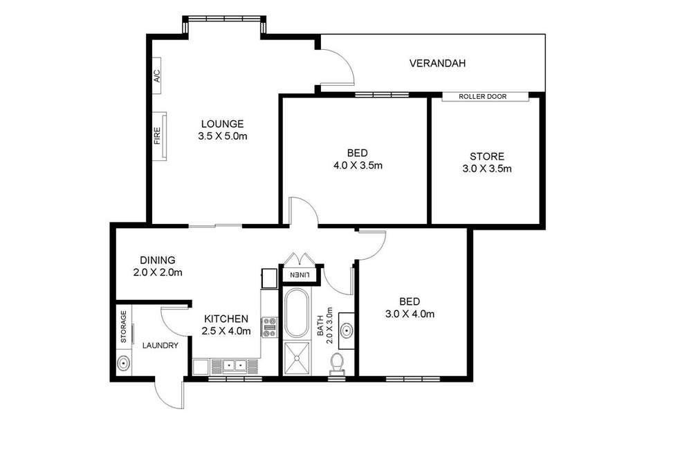 Floorplan of Homely unit listing, 3/29 Seaview Road, Fullarton SA 5063