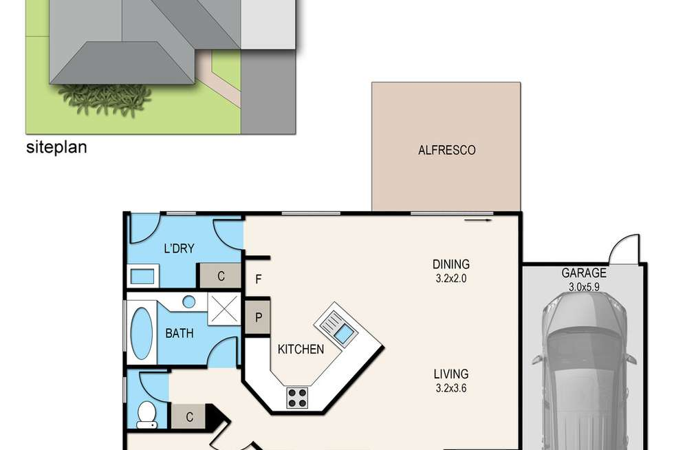 Floorplan of Homely unit listing, 5/91 Southgateway, Langwarrin VIC 3910