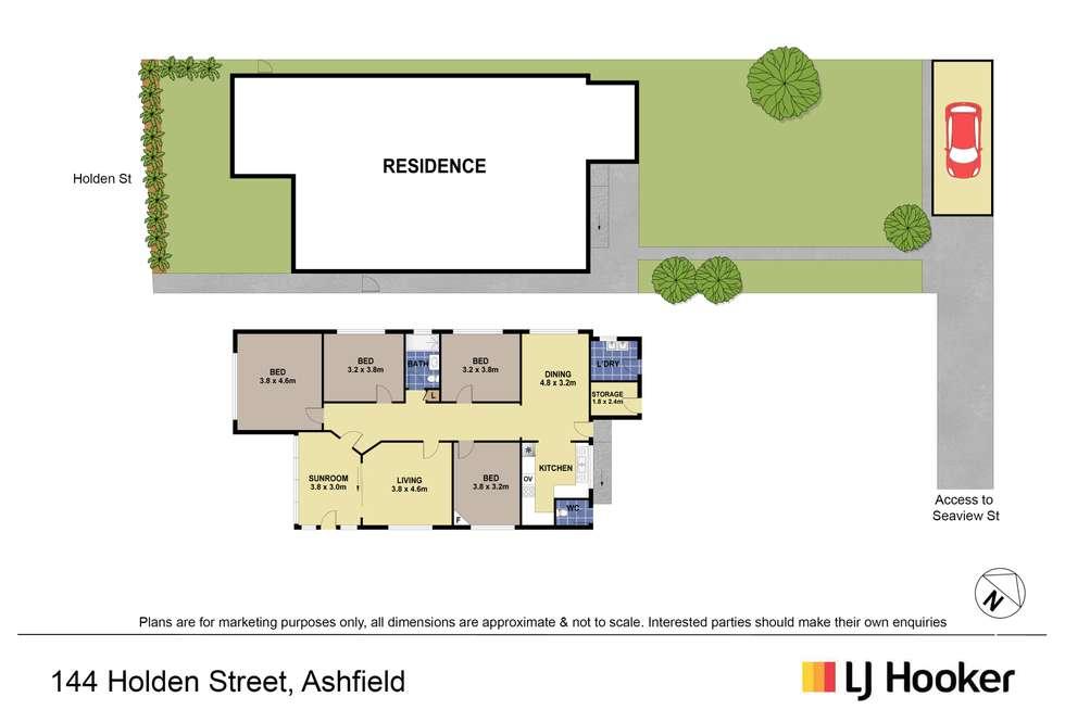 Floorplan of Homely house listing, 144 Holden Street, Ashfield NSW 2131