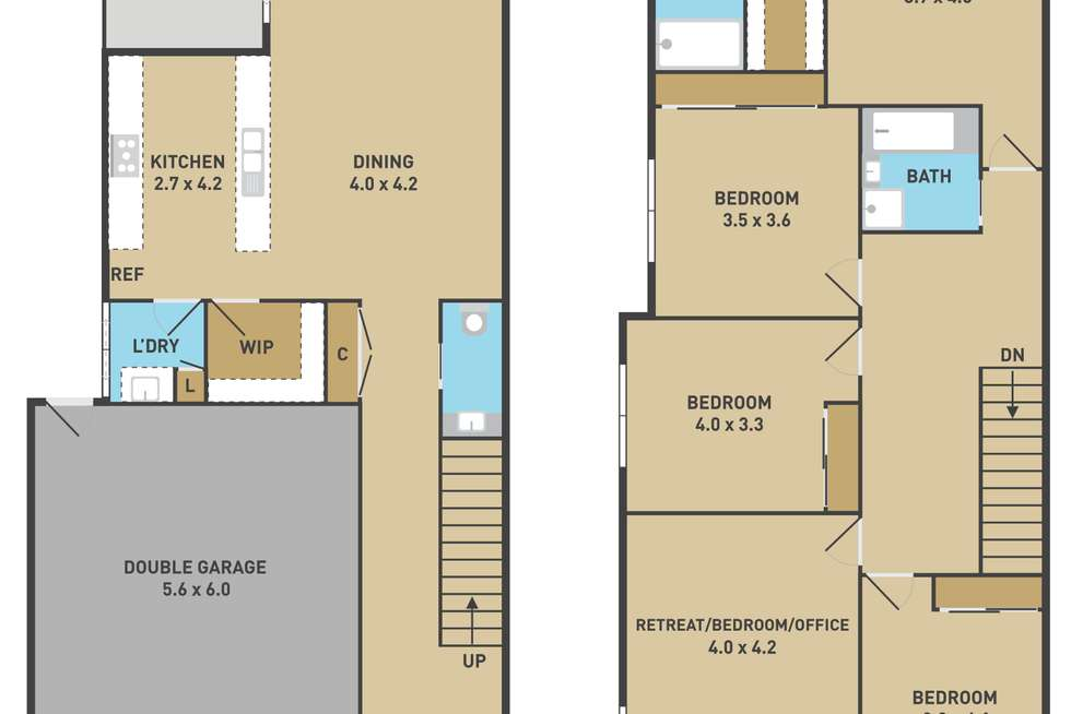 Floorplan of Homely house listing, 58 The Esplanade, Caroline Springs VIC 3023