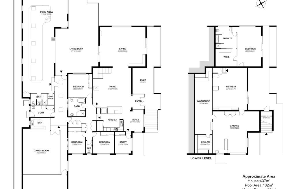 Floorplan of Homely house listing, 32-34 Frankcomb Street, Huonville TAS 7109
