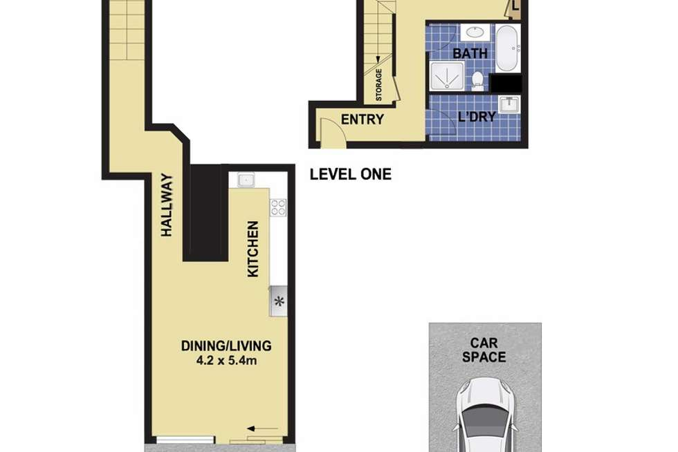 Floorplan of Homely apartment listing, 19/403-409 Liverpool Road, Ashfield NSW 2131
