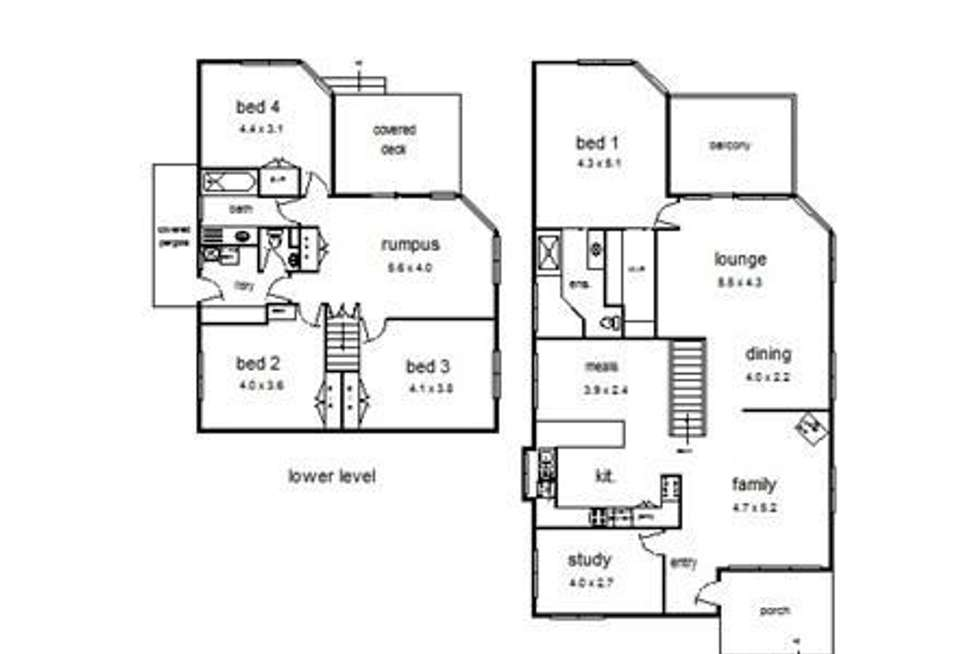 Floorplan of Homely house listing, 24 Bales Street, Ferntree Gully VIC 3156