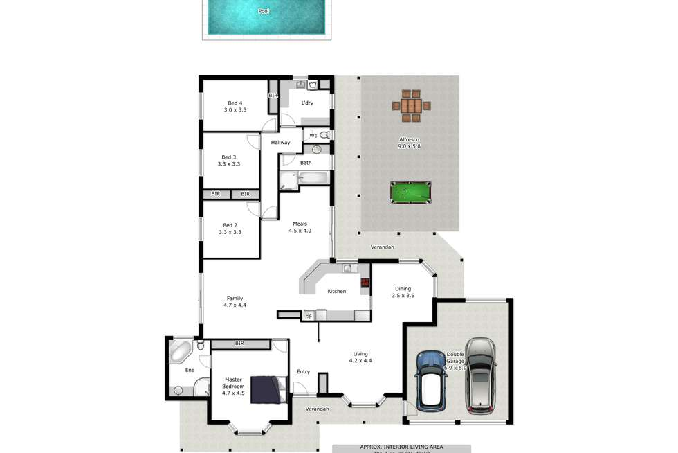 Floorplan of Homely house listing, 1 Dominic Drive, Wodonga VIC 3690
