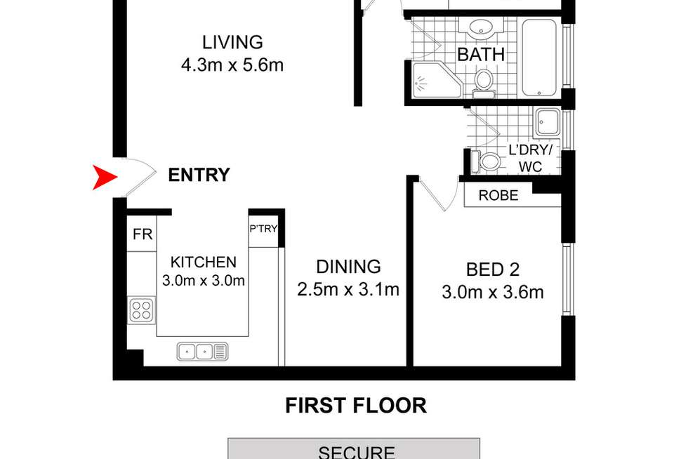 Floorplan of Homely apartment listing, 3/86-88 Ninth Avenue, Campsie NSW 2194