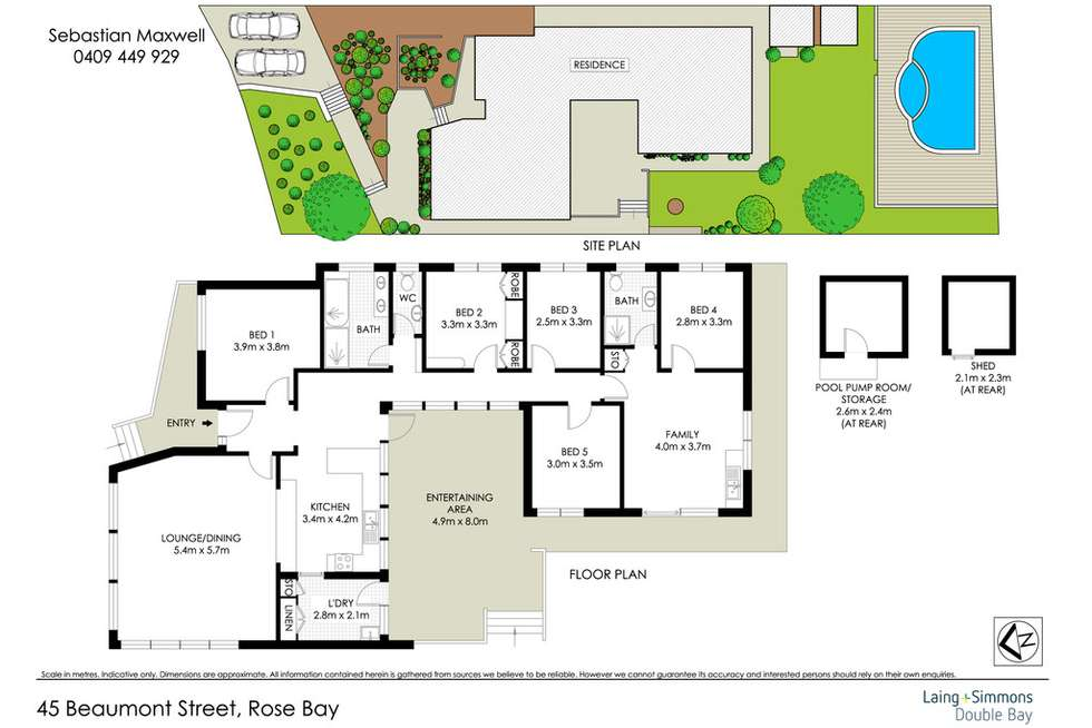 Floorplan of Homely house listing, 45 Beaumont Street, Rose Bay NSW 2029