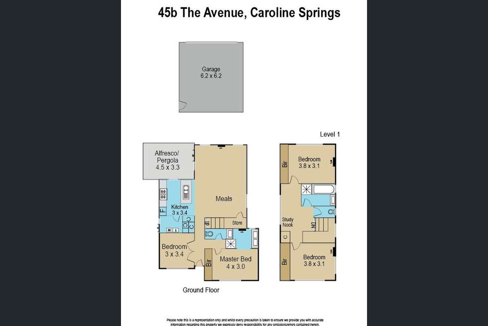 Floorplan of Homely townhouse listing, 45B The Avenue, Caroline Springs VIC 3023