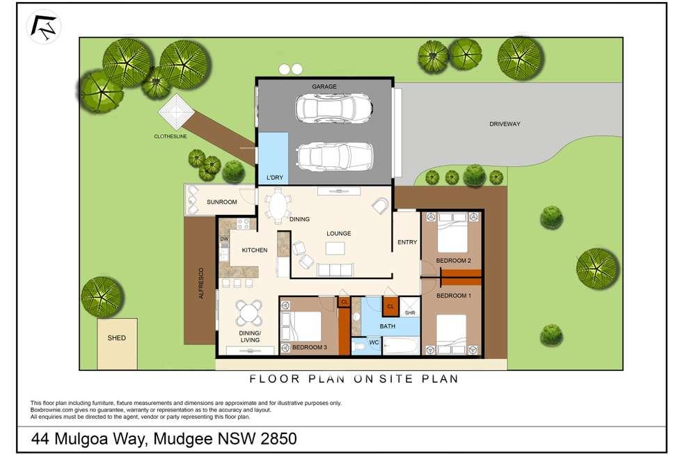 Floorplan of Homely house listing, 44 Mulgoa Way, Mudgee NSW 2850