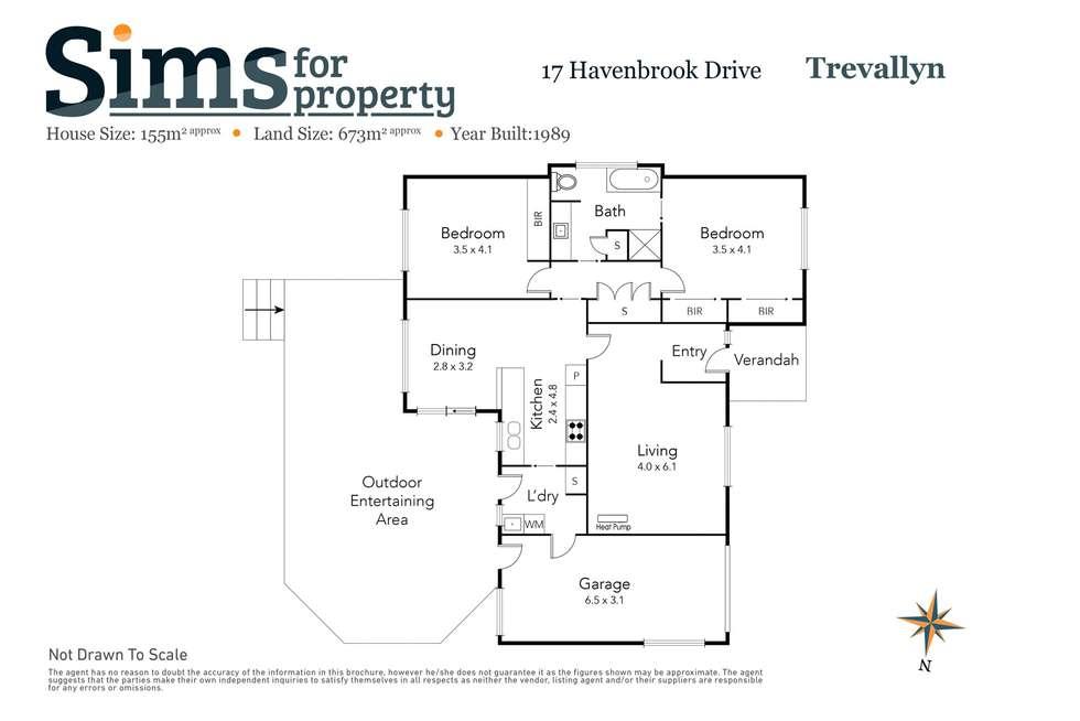 Floorplan of Homely house listing, 17 Havenbrook Drive, Trevallyn TAS 7250